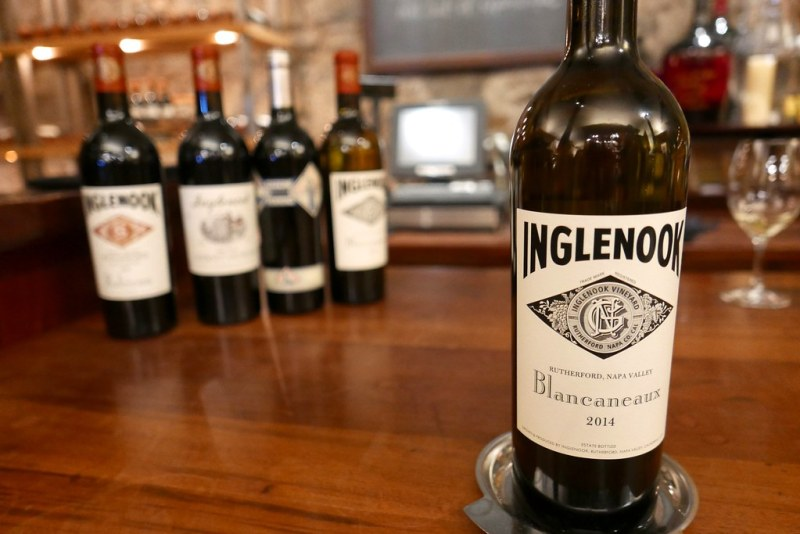 Blancaneaux is Inglenook's white Rhone-style blend that's produced in extremely limited quantities. Its grapes are harvested from vines that are more than ten years old and received afternoon shade from Mt. St John.