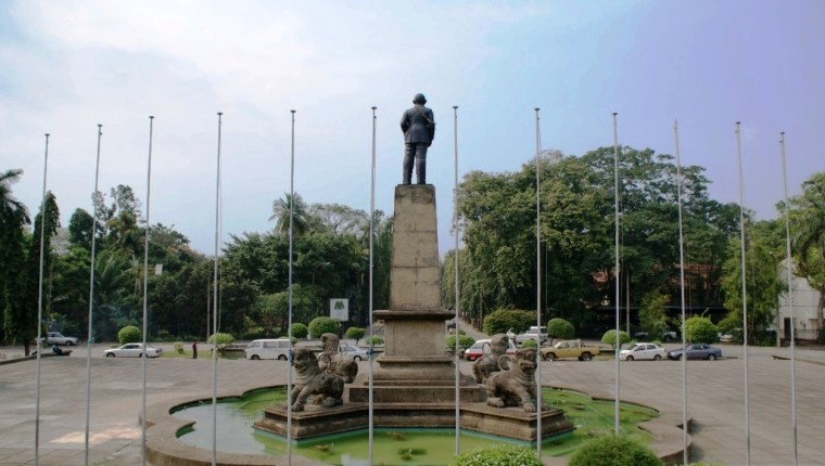 A Statue at Independence Square