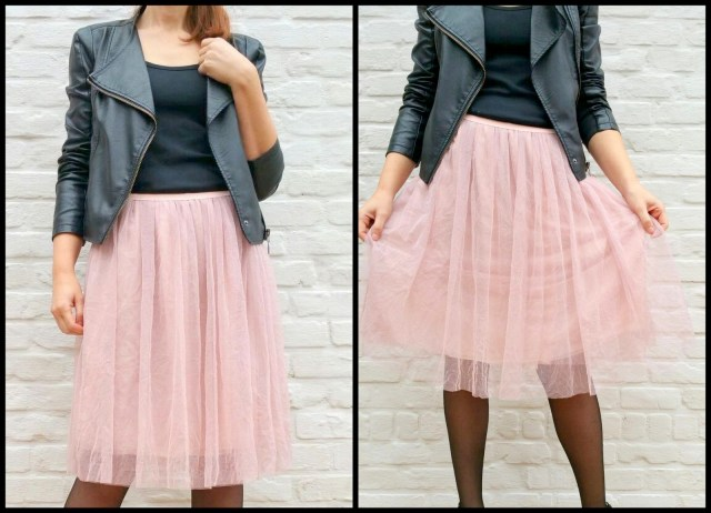 tule/chiffon skirt (collage)