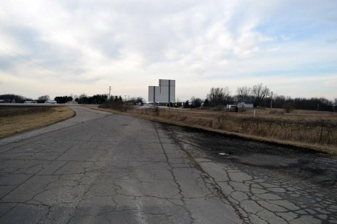 Abandoned four-lane highway