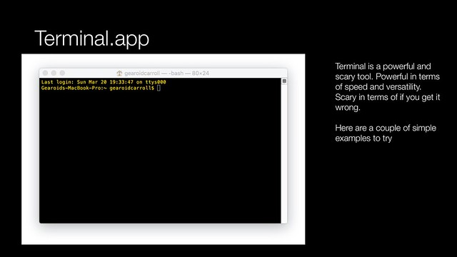 Terminal app - introduction