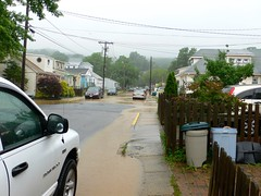 Ominous flooding in Highlands, NJ