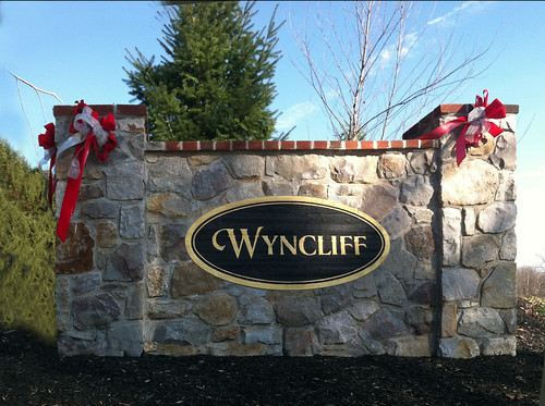 Oval Wall Entrance Signs for Wycliff Subdivision
