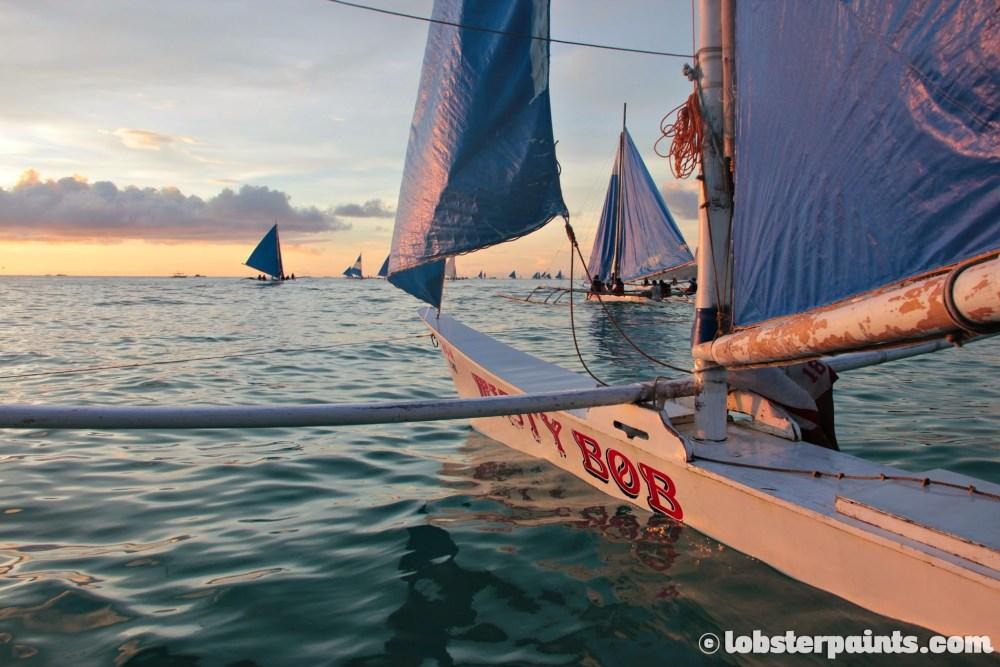 Boracay November 2013 - Paraw Sailing