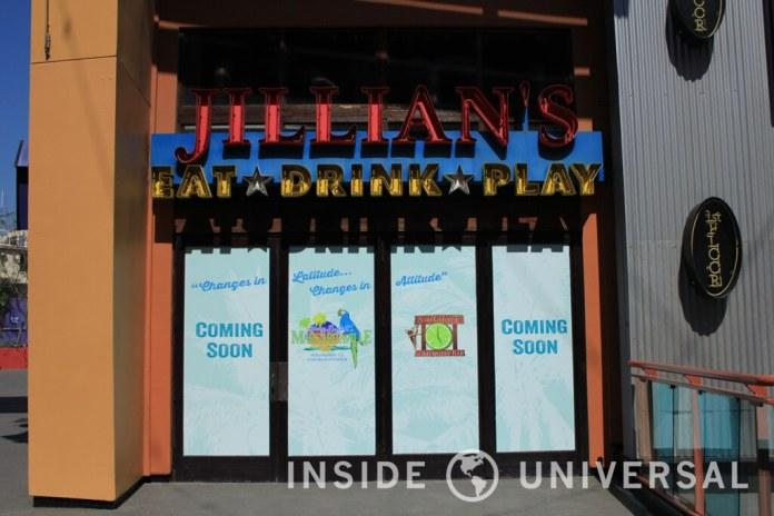 Jimmy Buffett's Margaritaville is coming to CityWalk Hollywood, replacing Jillian's Hi-Life Lanes