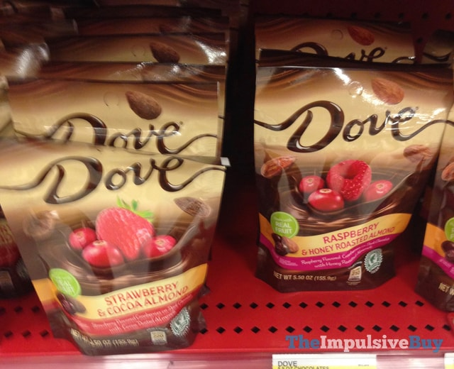 Dove Strawberry & Cocoa Almond and Raspberry & Honey Roasted Almond