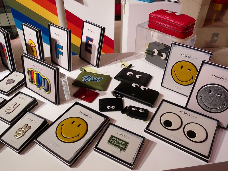 Anya Hindmarch sticker shop at Adora