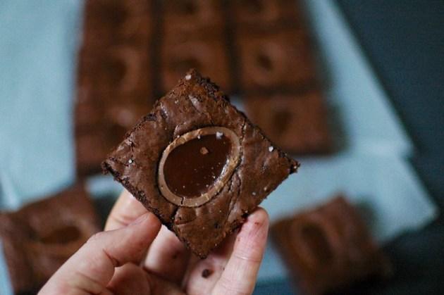 Galaxy Caramel Egg Brownies