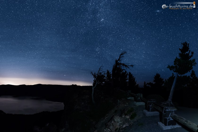 Starry sky above Newberry Volcano