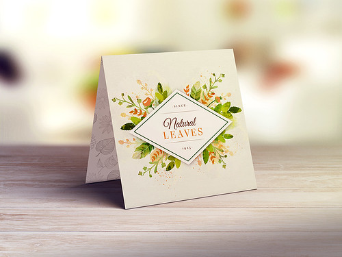 Square Invitation & Greeting Card MockUp