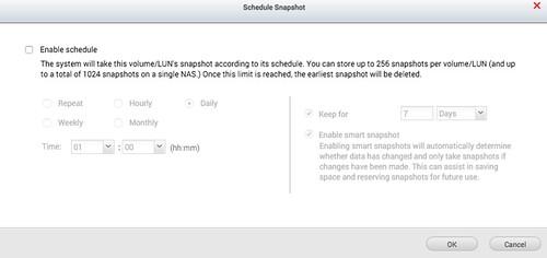 เลือก Schedule ตั้งเวลาทำ Snapshot อัตโนมัติได้