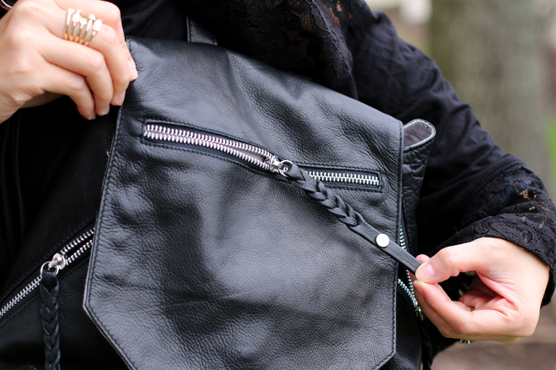 day and mood fleur backpack, bag, braided zipper