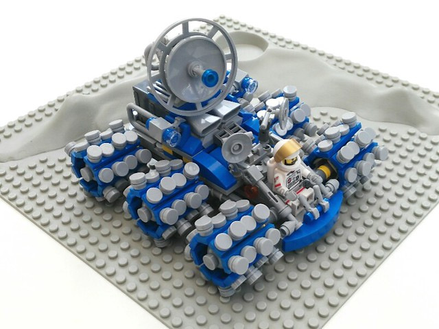 Classic Space Lunar Rover. I was looking at the tyres on my Tamiya RC Boomerang and had the idea for the wheels.