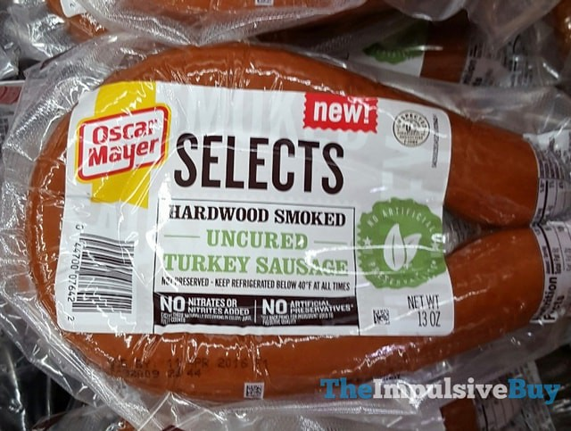 Oscar Mayer Selects Hardwood Smoked Uncured Turkey Sausage