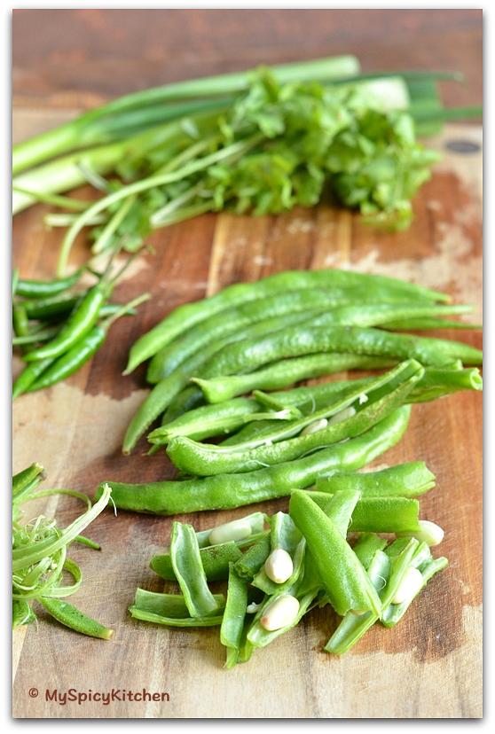 Indian Long Beans, Chikkudukaya, Valor, Blogging Marathon, Indian Vegetable