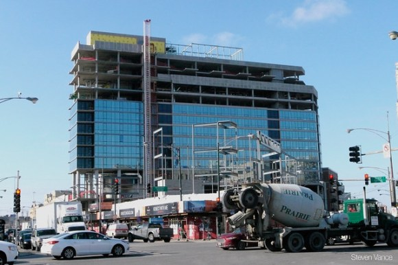 500 N Milwaukee: The Kenect building overlooks a busy intersection