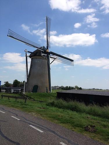 bike and barge tours - windmills