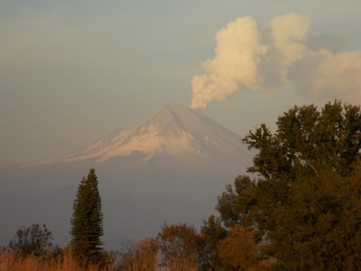Smoking Popocatepetl