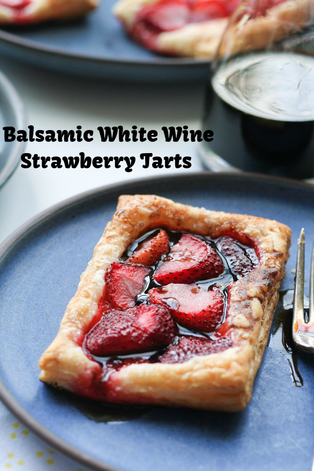 Balsamic White Wine Strawberry Tarts on www.inthiskitchen.com