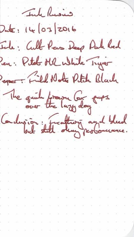 Cult Pens Deep Dark Red - Field Notes