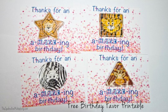 Thanks for an a MAZE ing birthday printable