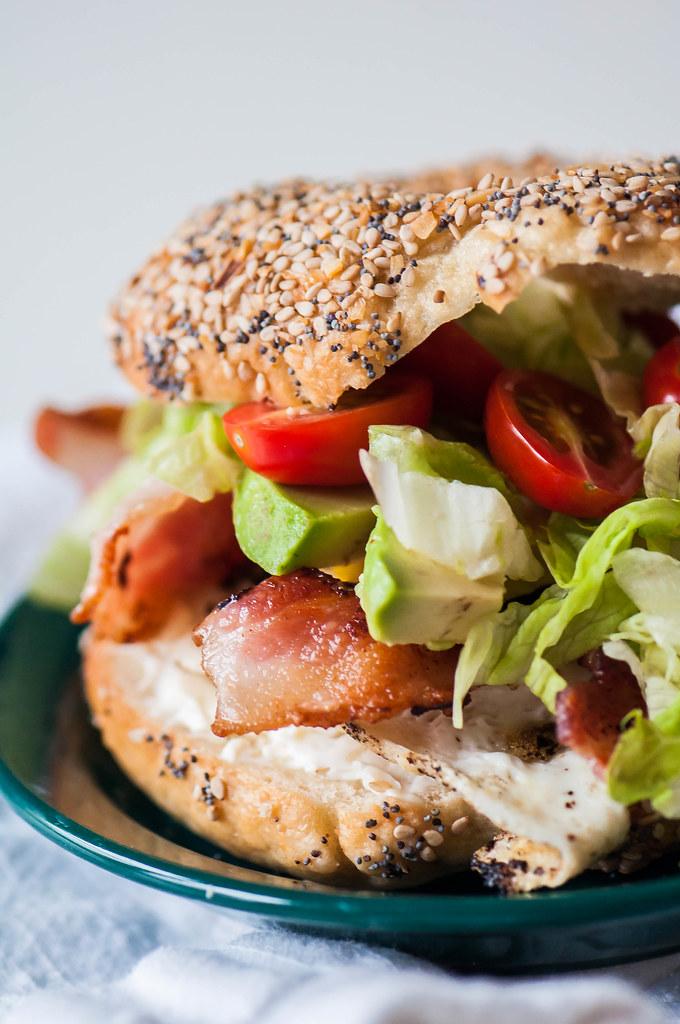 BLT Bagel Sandwich 5