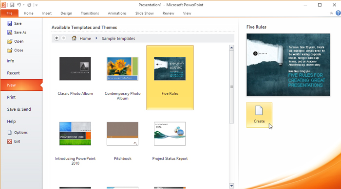 how to create slide show on open office