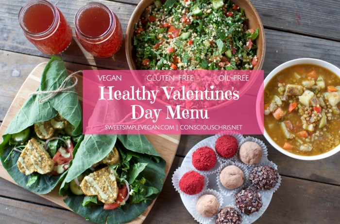 Vegan Valentine's Day Menu | Consciouschris.net // Sweetsimplevegan.com