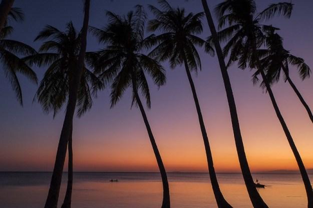 Tropical sunset. Paliton Beach, Siquijor