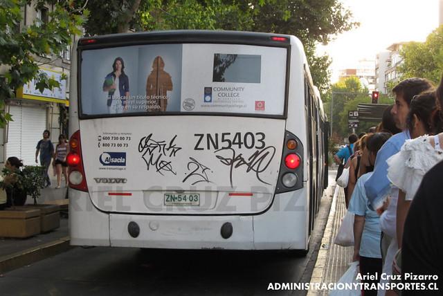 Transantiago - Inversiones Alsacia - Busscar Urbanuss / Volvo (ZN5403)