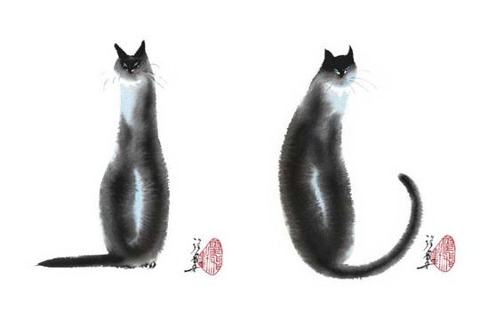 Chinese Cats by Cheng Yan