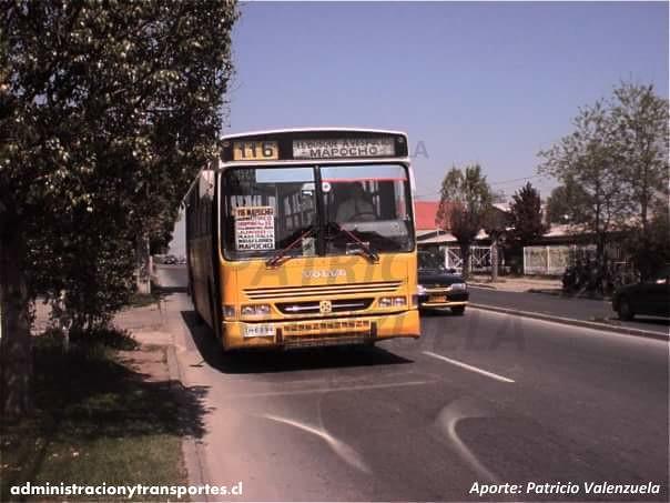 116 Micro Amarilla Busscar Urbanus TH6994 Patricio Valenzuela