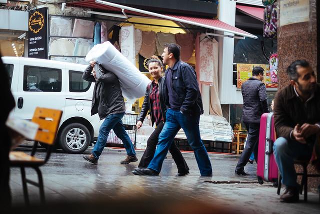 Istanbul: blik vanuit theehuis in Eminönü