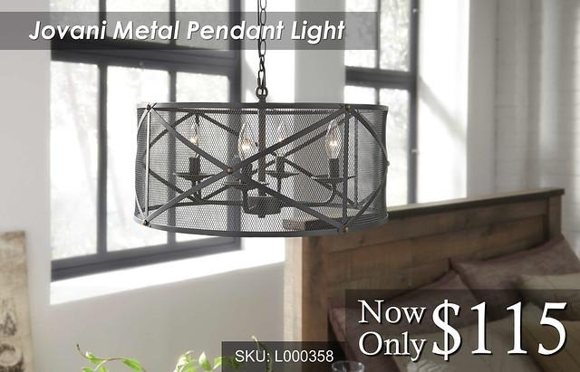 Jovani Metal Pendant Light