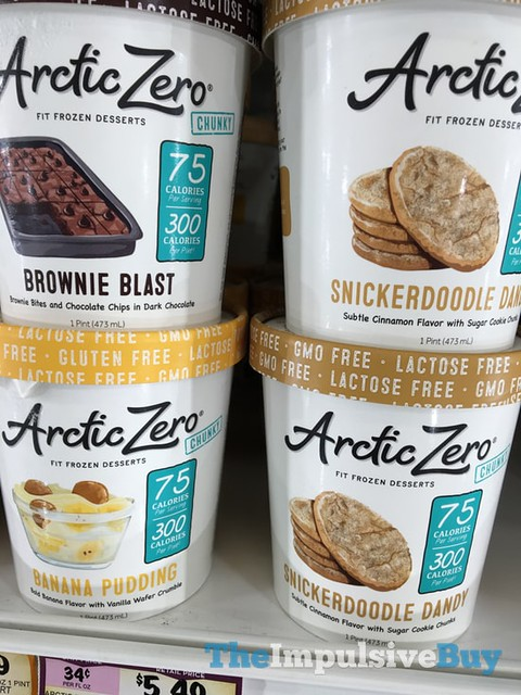Arctic Zero Chunky (Brownie Blast, Snickerdoodle Dandy, and Banana Pudding)
