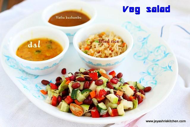 Desi Veg salad