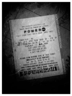 B&W Lotto Ticket