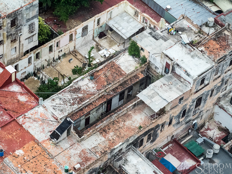 Looking down on Havana