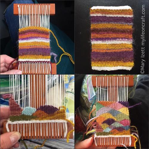Weaving on a Hokett loom
