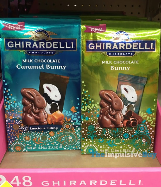 Ghirardelli Milk Chocolate Bunny and Caramel Bunny