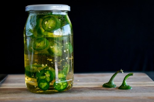 infusing the tequila with jalapeños