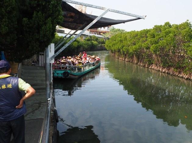 四草緑色隧道の船
