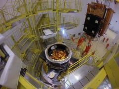 Sentinel-1B satellite lowered onto Fregat upper stage