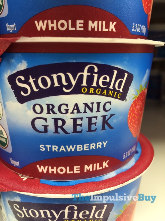 Stonyfield Organic Strawberry Whole Milk Greek Yogurt
