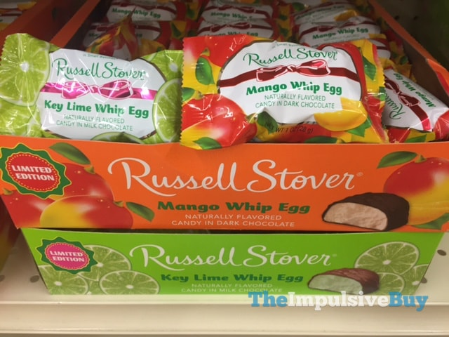 Russell Stover Limited Edition Key Lime and Mango Whip Eggs