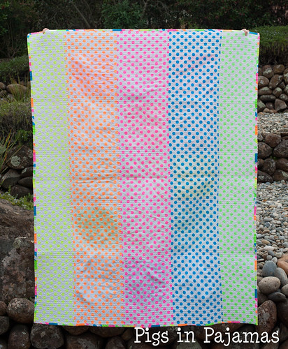 Neon quilt back