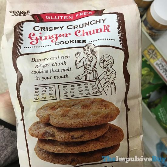 Trader Joe's Gluten Free Crispy Crunchy Ginger Chunk Cookies