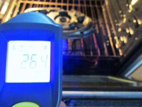 Heating Inner Timing Cover in Oven