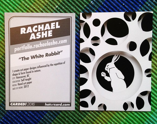 The White Rabbit as an artist trading card