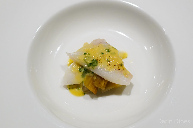 Slow-Cooked New Zealand John Dory with Charcoal-Grilled Eggplant